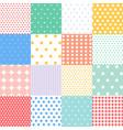 colorful polka dots patterns vector image vector image