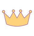crown luxury royal monarchy icon vector image vector image