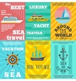 Cruise travel 6 flat icons composition vector image vector image