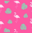 cute seamless flamingo pattern vector image vector image