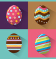 easter eggs day icon vector image vector image