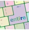 entire button on computer pc keyboard key vector image vector image
