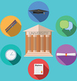 Flat design concept for University building vector image