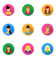 flat icons templates women vector image