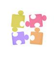 fun game cartoon puzzle pieces with trendy vector image vector image