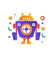 funny robot character artificial robotics machine vector image vector image