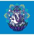 Ganesha With Ornate Mandala vector image vector image