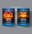 halloween flyer design template banner or leaflet vector image vector image