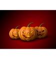 Halloween Pumpkins Jack Lanterns vector image vector image