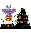 halloween theme image 9 vector image vector image