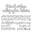 Handwritten calligraphic script vector image vector image