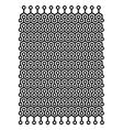 Hexagon block pattern vector image vector image