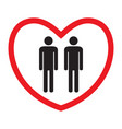 homosexual love icon vector image vector image
