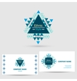 icon with business card template vector image vector image