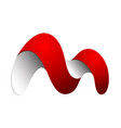 initial m letter logo design vector image