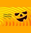 jack pumpkin funny face carved in orange vector image