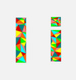 letter i low poly alphabetgeometric styleabstrac vector image vector image