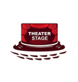 modern theater vector image vector image