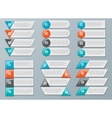 number options for infographics vector image vector image
