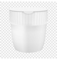 plastic cup for noodles mockup realistic style vector image vector image