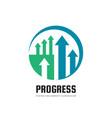 progress - business logo template concept vector image vector image