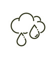 rain drops clud weather nature line design vector image