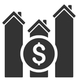 Realty Price Charts Flat Icon