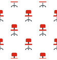 red office a chair pattern flat vector image vector image