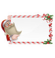 santa christmas sign vector image vector image