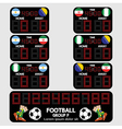 Scoreboard Football Tournament vector image vector image