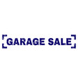 scratched textured garage sale stamp seal between vector image vector image