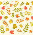 seamless pattern in autumn theme vector image vector image