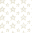 Seamless pattern of stars with hand embroidered vector image