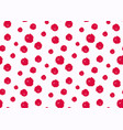 seamless polka dot pattern hand painted grunge vector image vector image