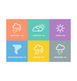 Set of weather forecast icons and signs