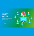 smart home control template vector image vector image