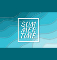 summer time paper cut style blue sea vector image vector image