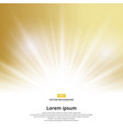 sunlight effect sparkle on gold background with vector image vector image