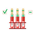test strip icon laboratory conducts a blood vector image vector image