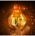 Text for new year 2017 numbers written in lamps vector image vector image