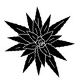 top view aloe vera icon simple style vector image vector image