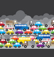 traffic jam in the city air pollution on t vector image