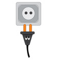 unpluged plug with a smiling face on a white vector image