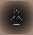 user icon on blackdark gray and beige gradient vector image