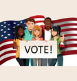 voting people vector image