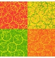 Seamless pattern of citrus fruit vector image