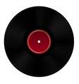 Black vinyl disc vector image