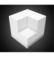 3d abstract backgroundwhite cube vector image vector image