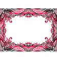 abstract floral border background vector image