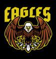 bald eagle mascot sport logo vector image vector image